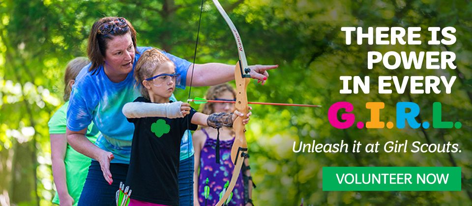Volunteer with Girl Scouts today